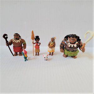 Moana Adventure Pack Moana Maui Tui Motunui Grandma Hei Hei Pua & Accessories